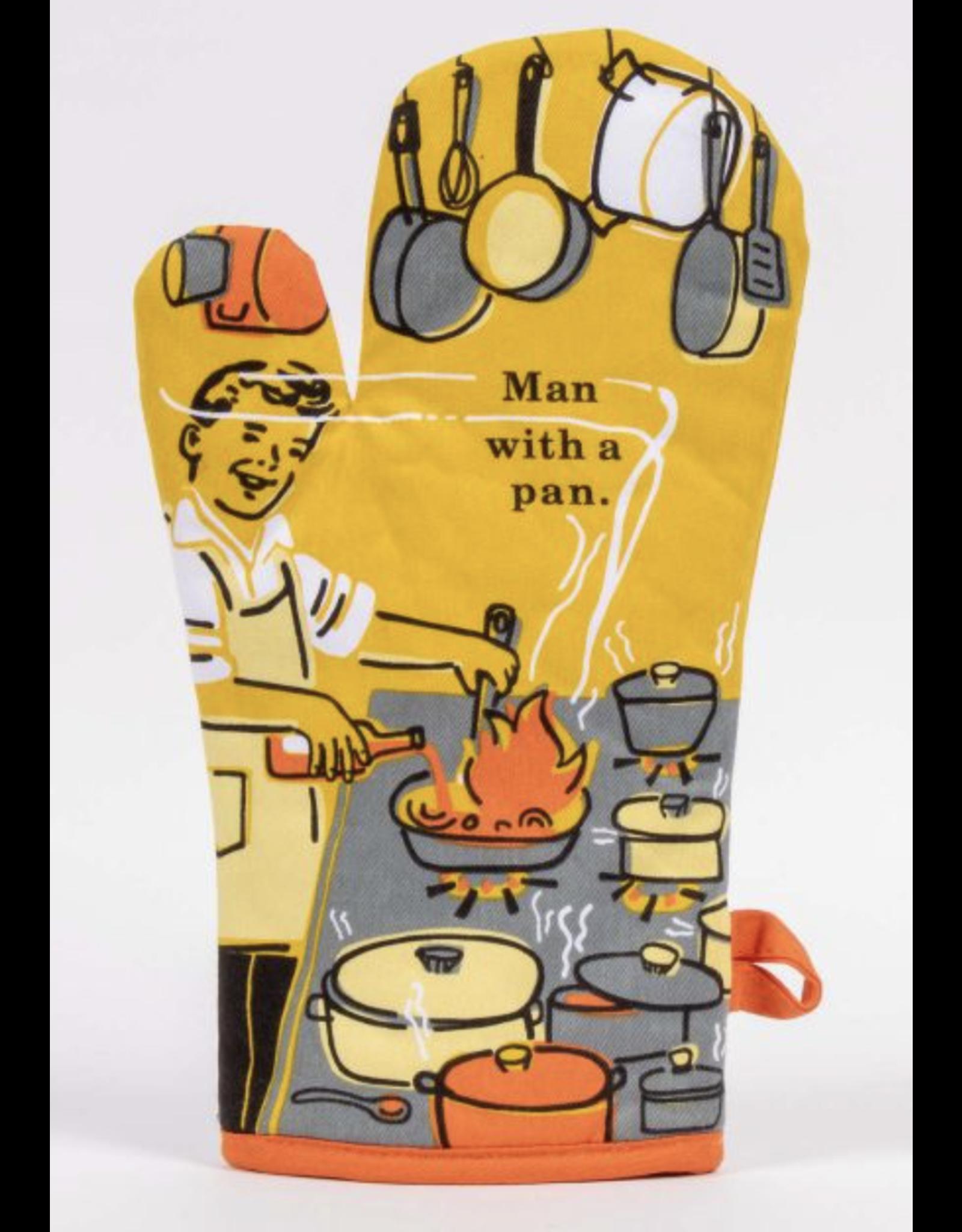 BQ Oven Mitt - Man with a Pan