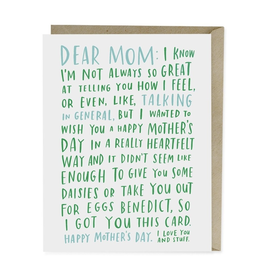Mother's Day - Dear Mom ...I Love You and Stuff