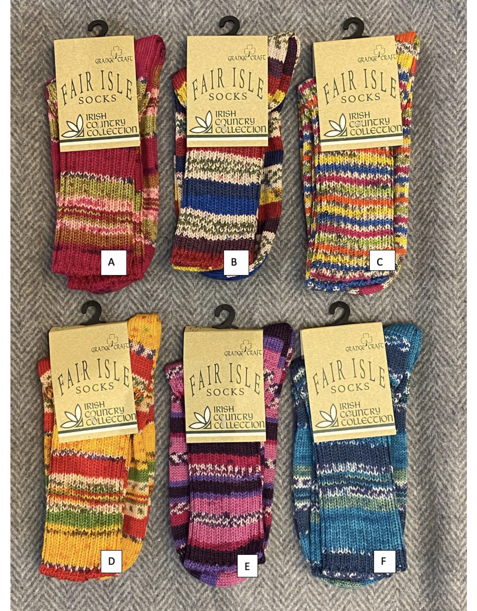 Fair Isles Socks - Women's