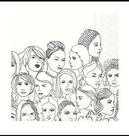 Cocktail Napkins- Faces