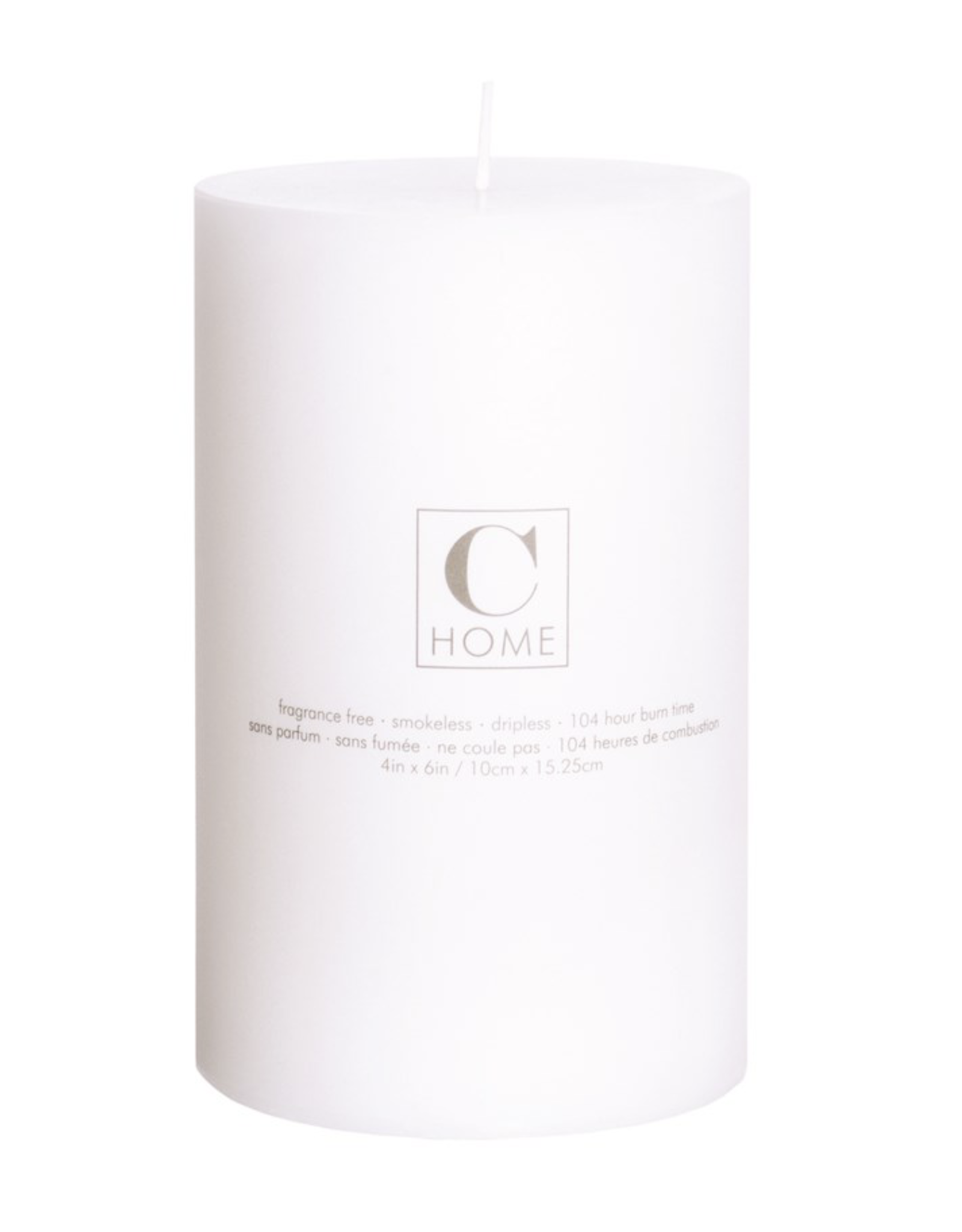4x6 White Pillar Candle