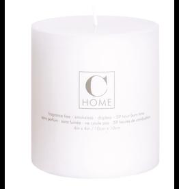 4x4 White Pillar Candle