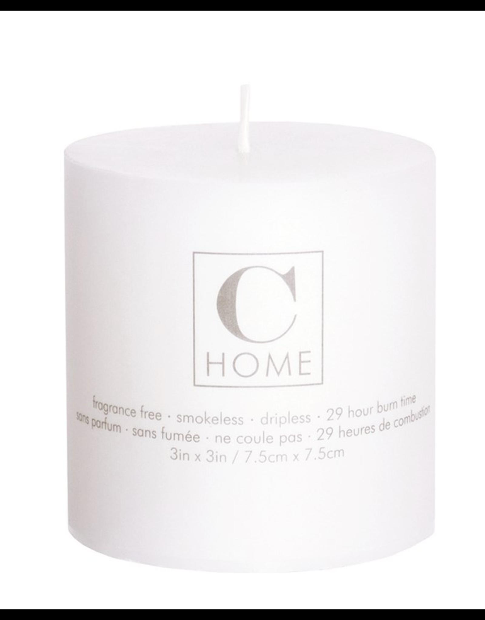 3x3 White Pillar Candle