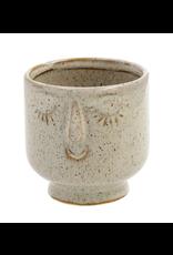 Friendly Face Pot - Sm, Dune