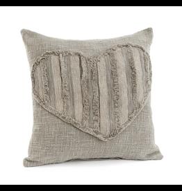Textured Heart Cushion - 17x17