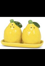 """Lemon Salt & Pepper on Tray 5.5""""L"""