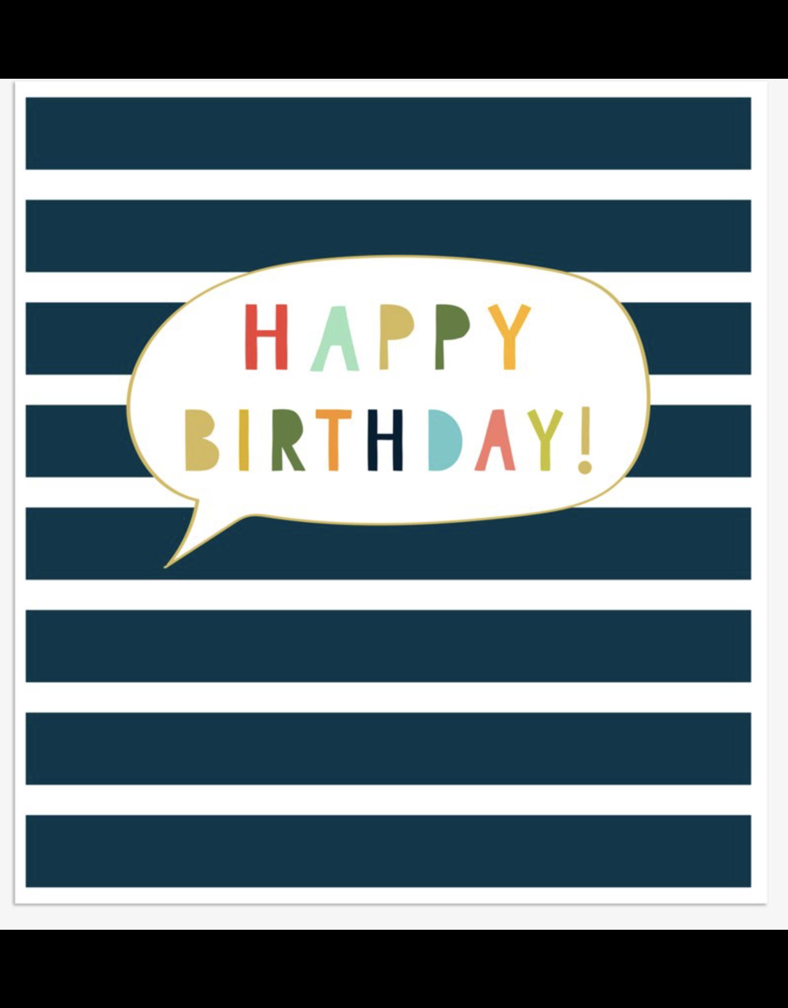 Birthday - Happy Birthday - Stripes