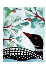Just Because - Loon and Hummingbirds