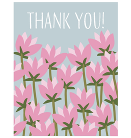 Thank You - Pink Flowers