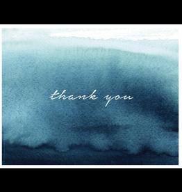 Thank You - Blue Watercolour