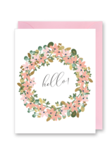 Just Because - Hello Floral Wreath