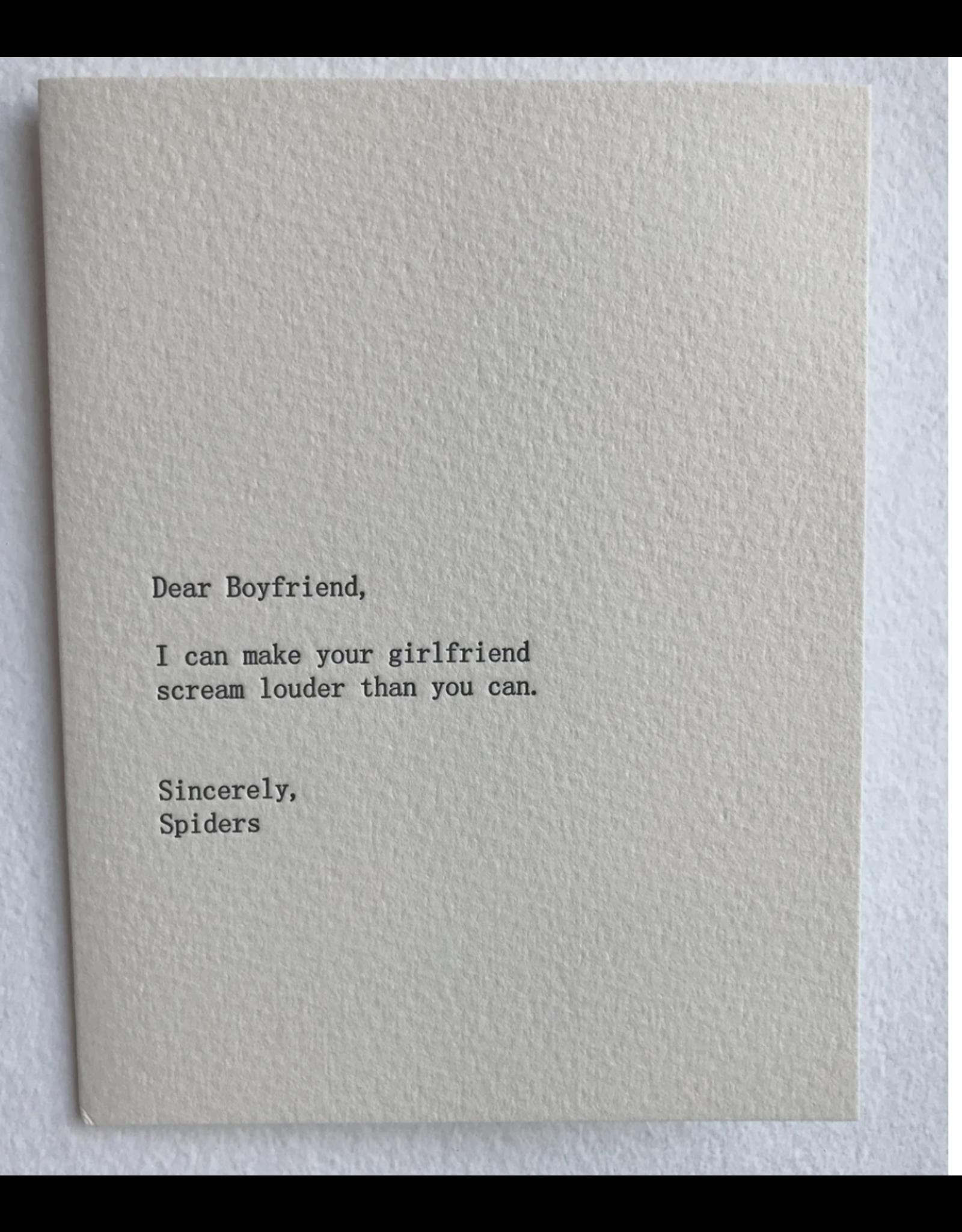 Just Because - Dear Boyfriend