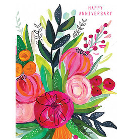 Anniversary - Big Red Flowers