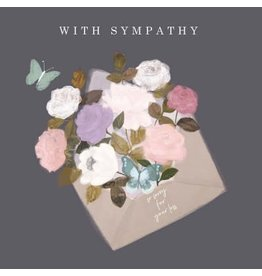 Sympathy - With Sympathy Evelope of Flowers