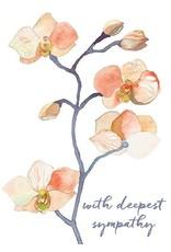 Sympathy - With Deepest Sympathy  Peach Orchid