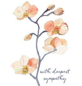 Sympathy -  Peach Orchid