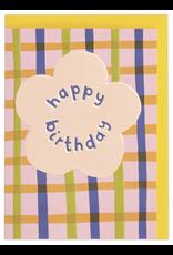 Birthday - Happy Birthday Posy and Plaid