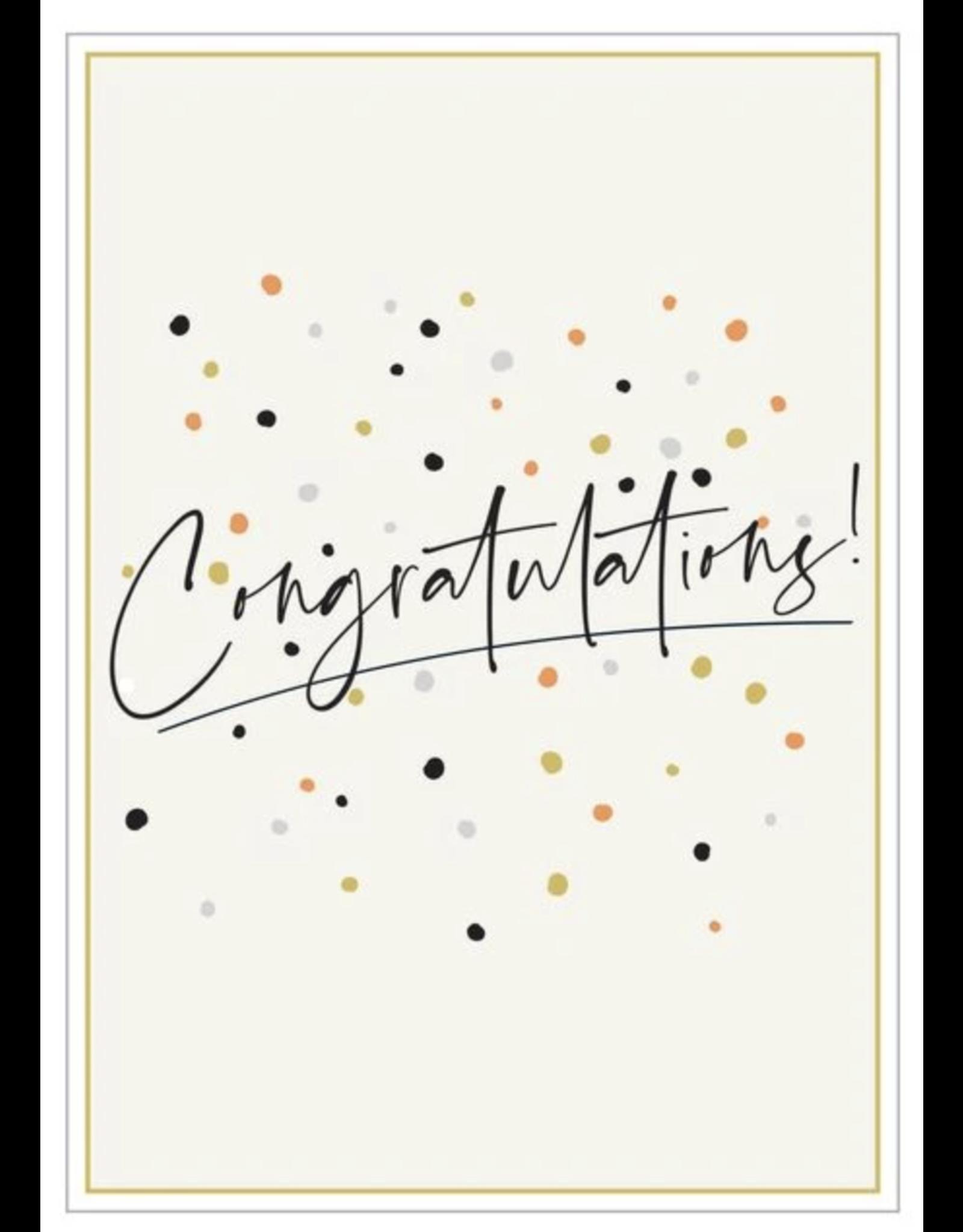 Congratulations- Congratulations Metallic Dots