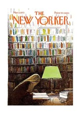 Just Because - New Yorker Studying in the Library