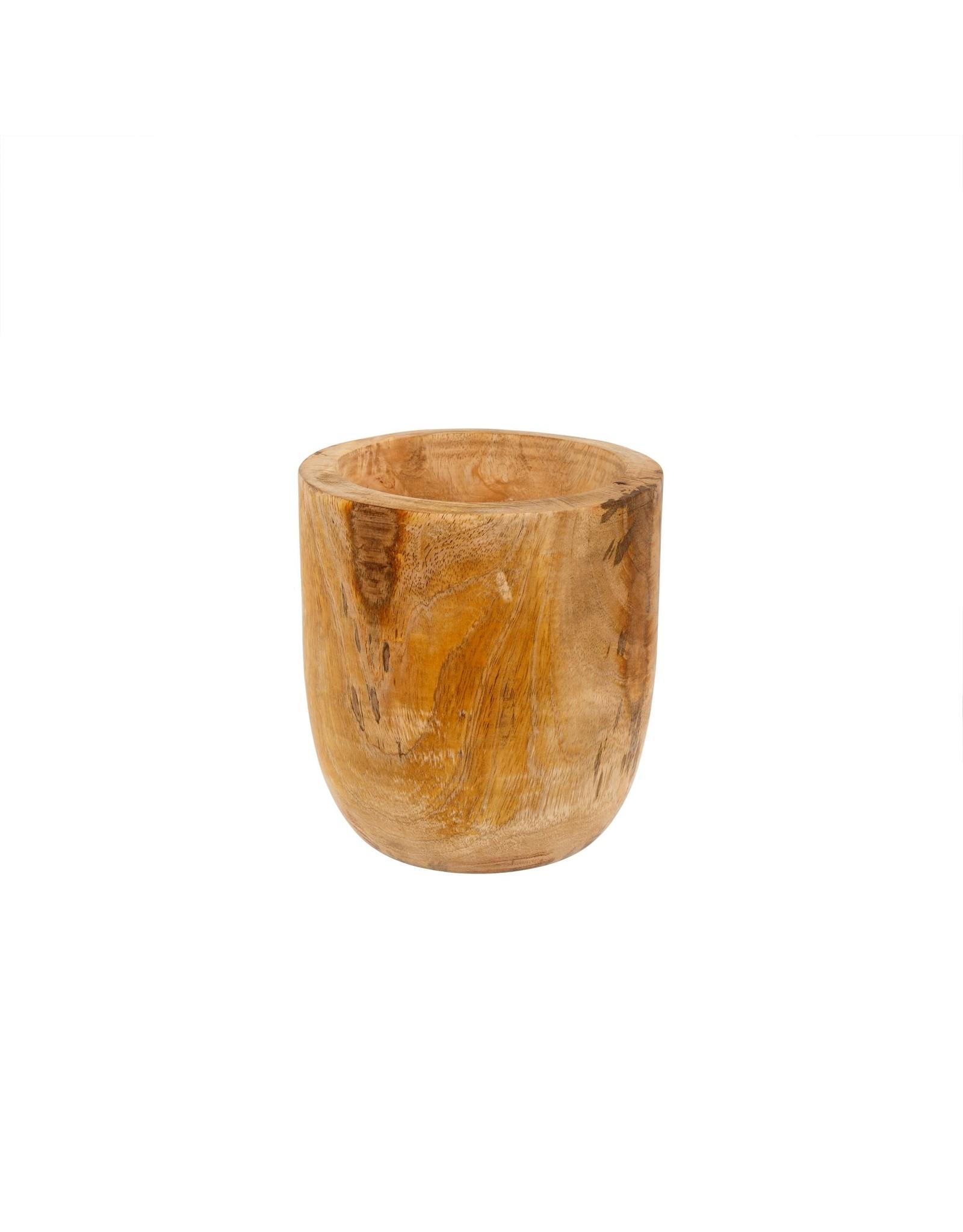 Mango Wood Egg Pot M