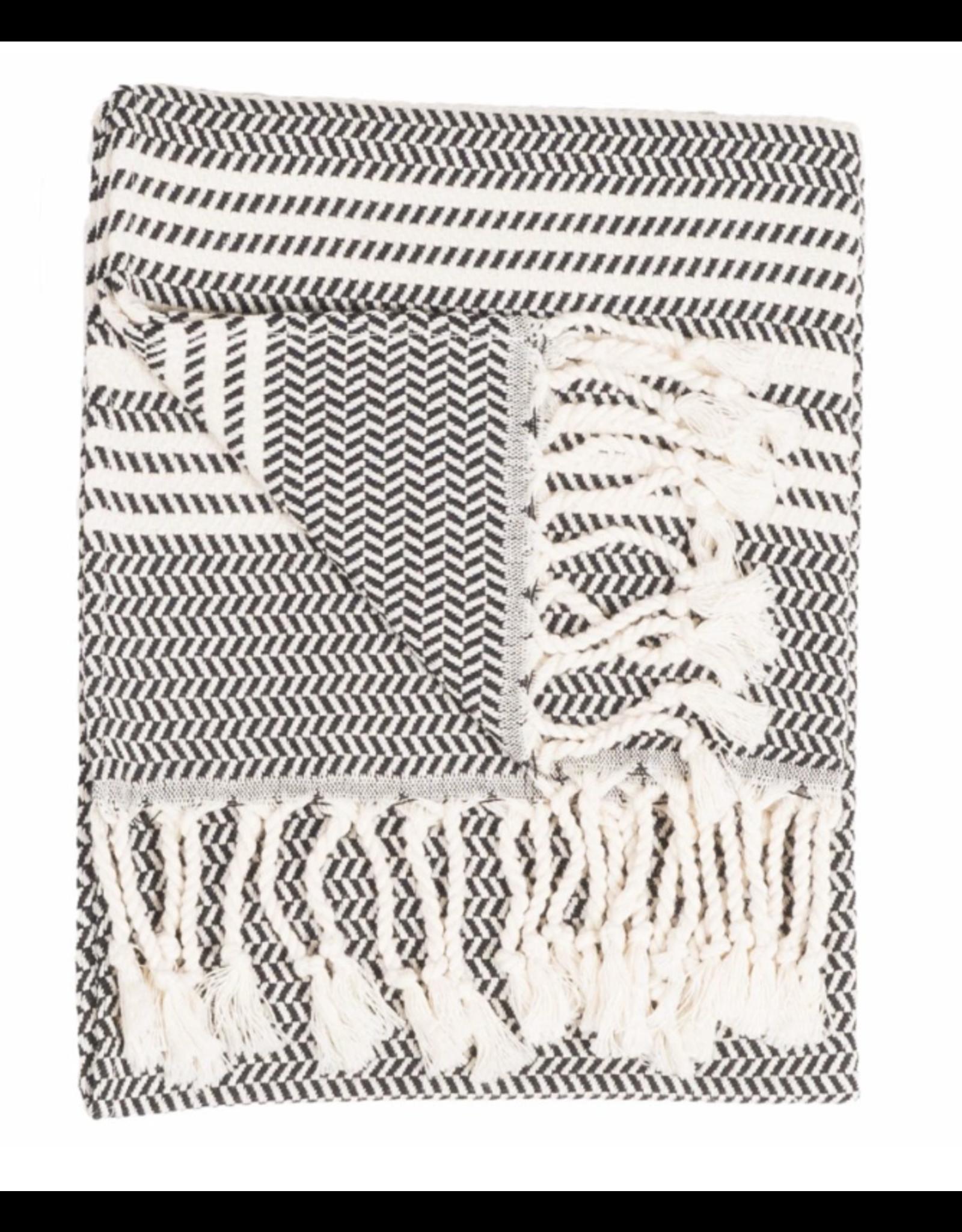 Turkish Hand Towel Hasir - Carbon