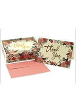 Boxed Thank You Cards - Floral Frame