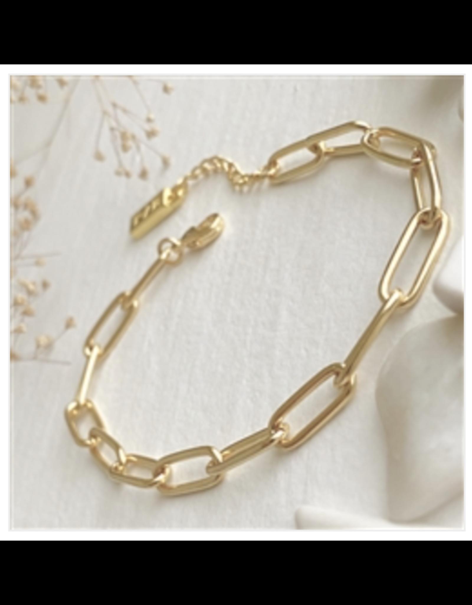 Montmartre Paperclip Chain Bracelet - Gold