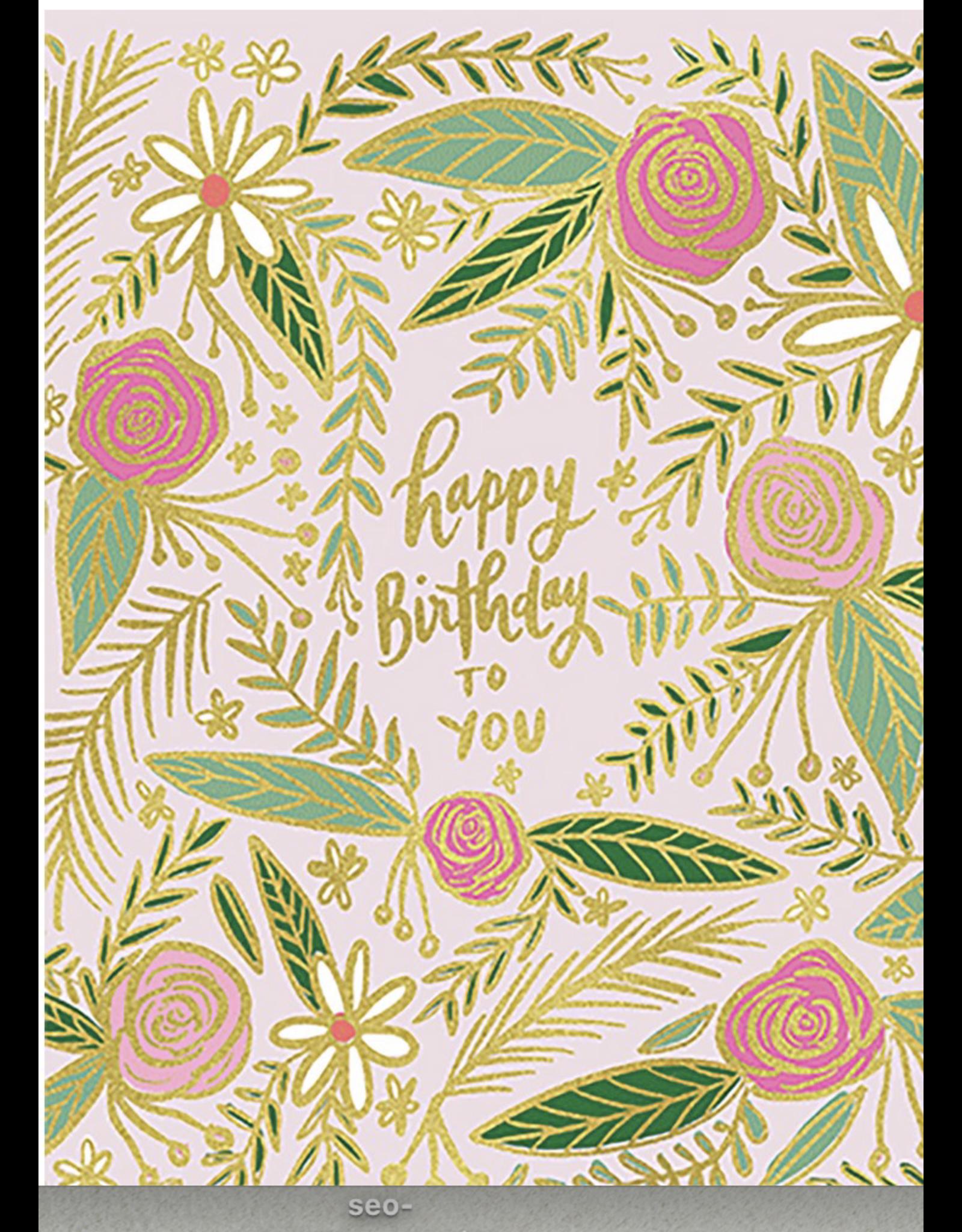 Birthday - Pink Floral / Calypso