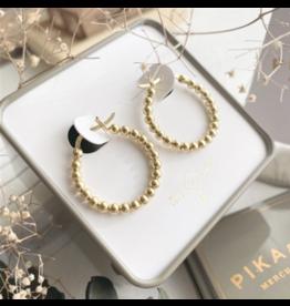 Nala Beaded Hoop Earrings in Vermeil