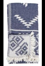 Turkish Towel - Geometric Cowboy Denim