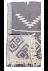 Turkish Towel - Geometric Spanish Grey