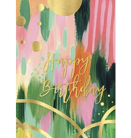 Birthday - Green and Gold