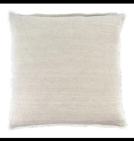 Lina Linen Cushion, Chambray 24x24