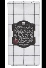 Vintage Wash Napkins - Black S/4