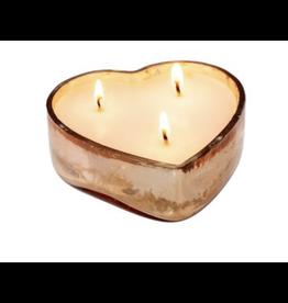 Sweetheart Rose Gold Candle Lrg - Orange Blossom