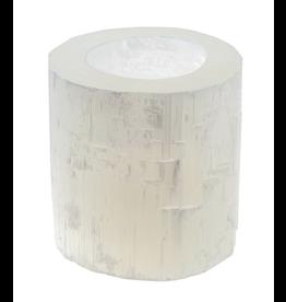 Selenite Candleholder White