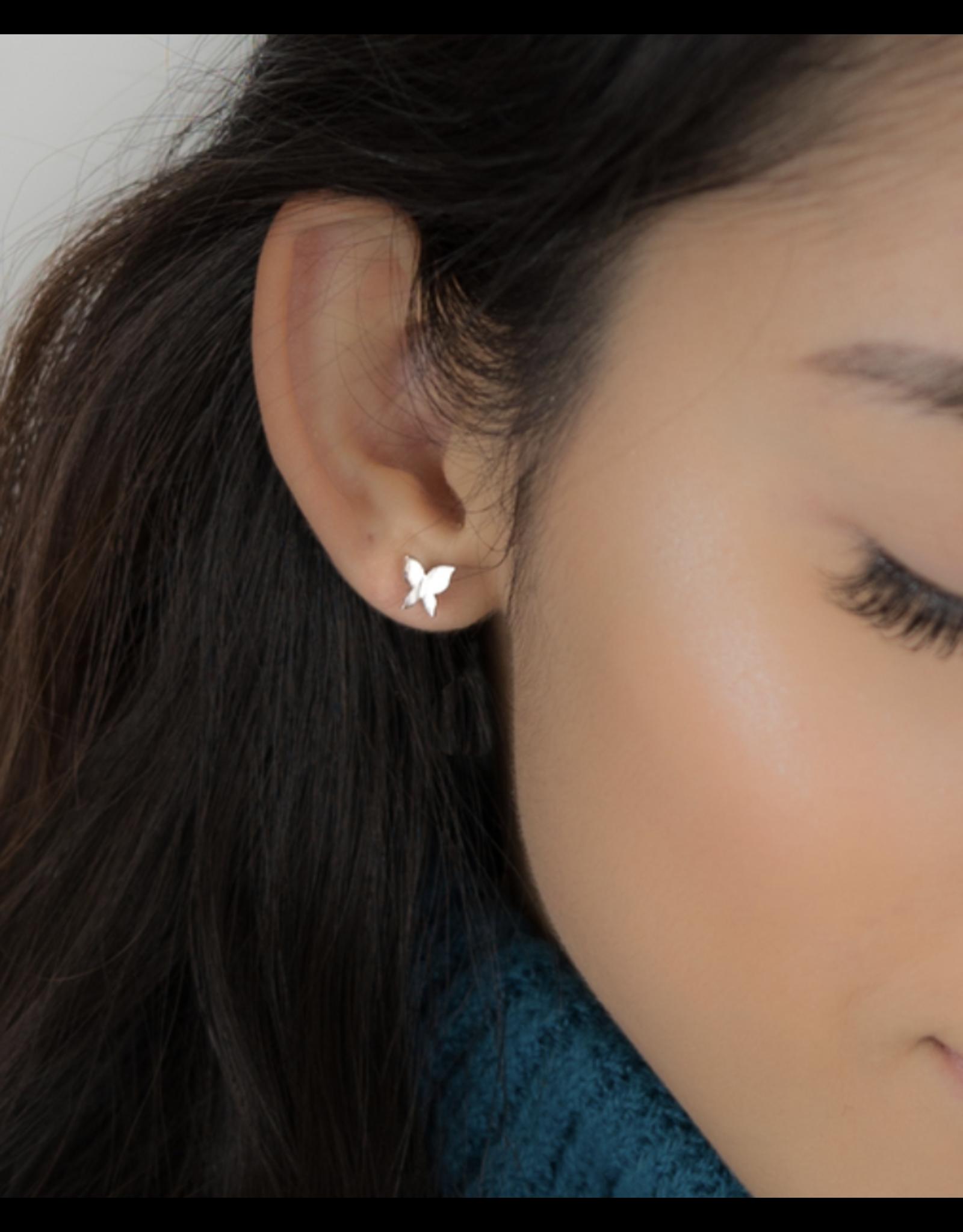 jj + rr Folded Butterfly Earrings