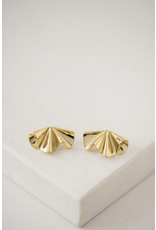 Lover's Tempo Contour Stud Earrings - Gold