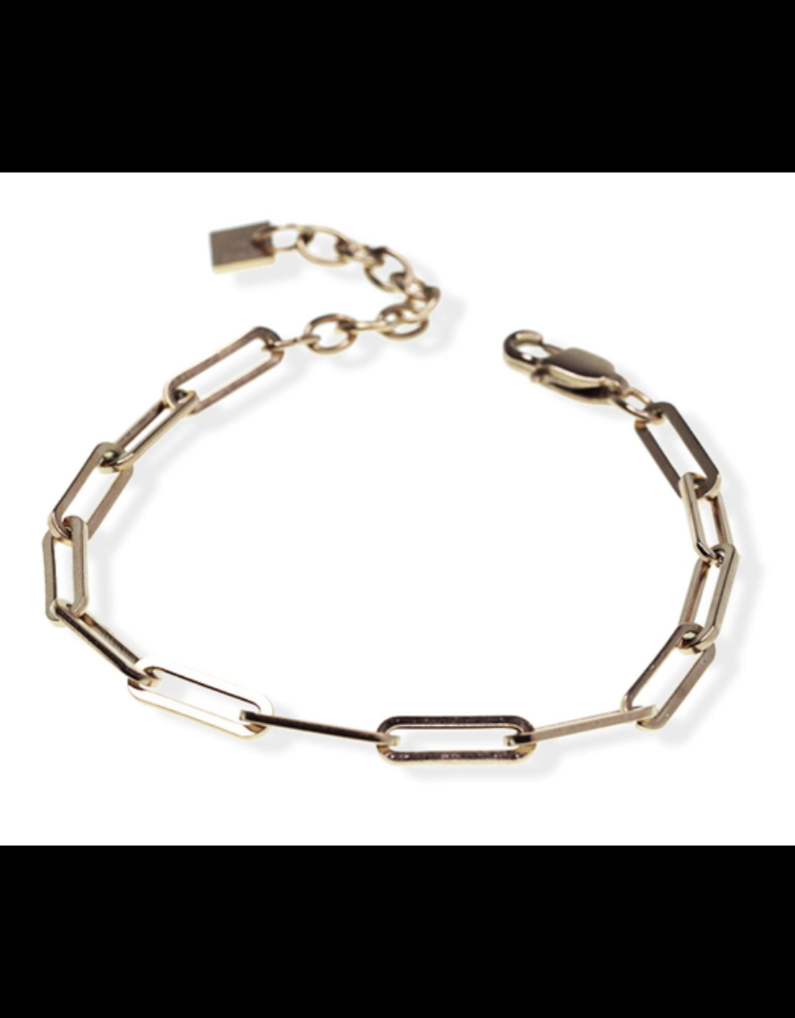 Blake Paperclip Bracelet - Gold