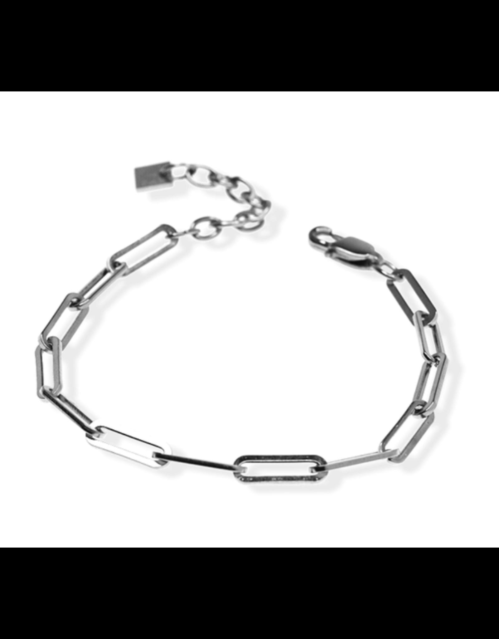 Blake Paperclip Bracelet - Silver