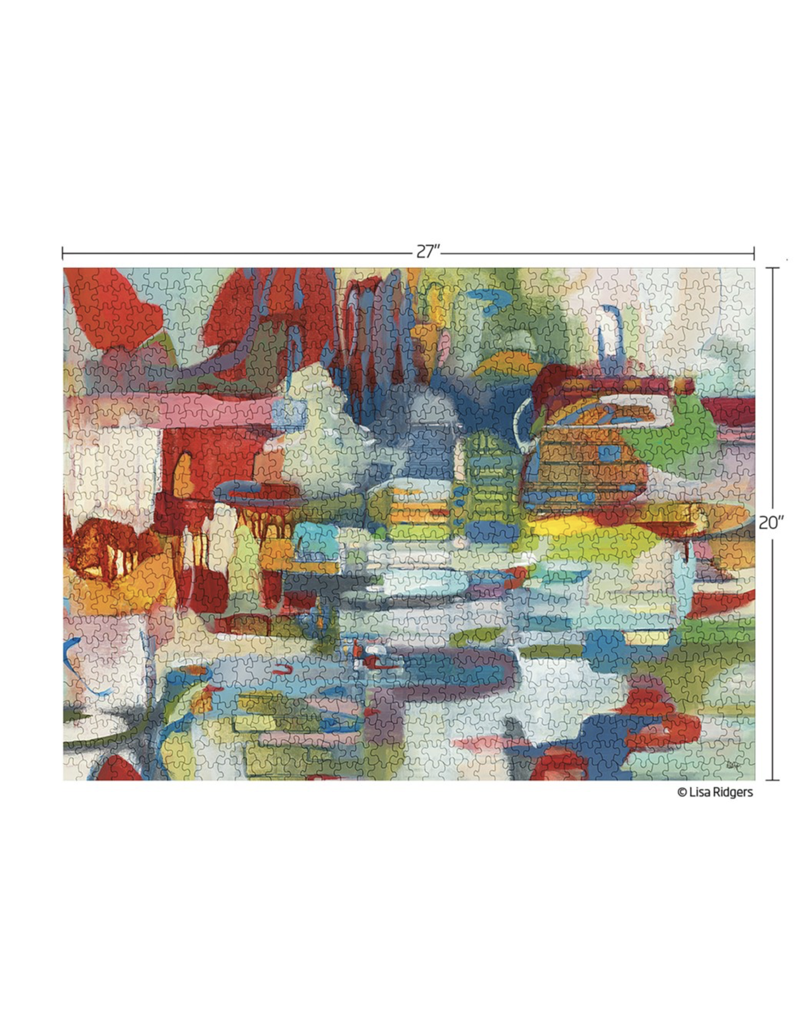 Werkshoppe Colour My World Abstract - 1000 Piece Jigsaw Puzzle