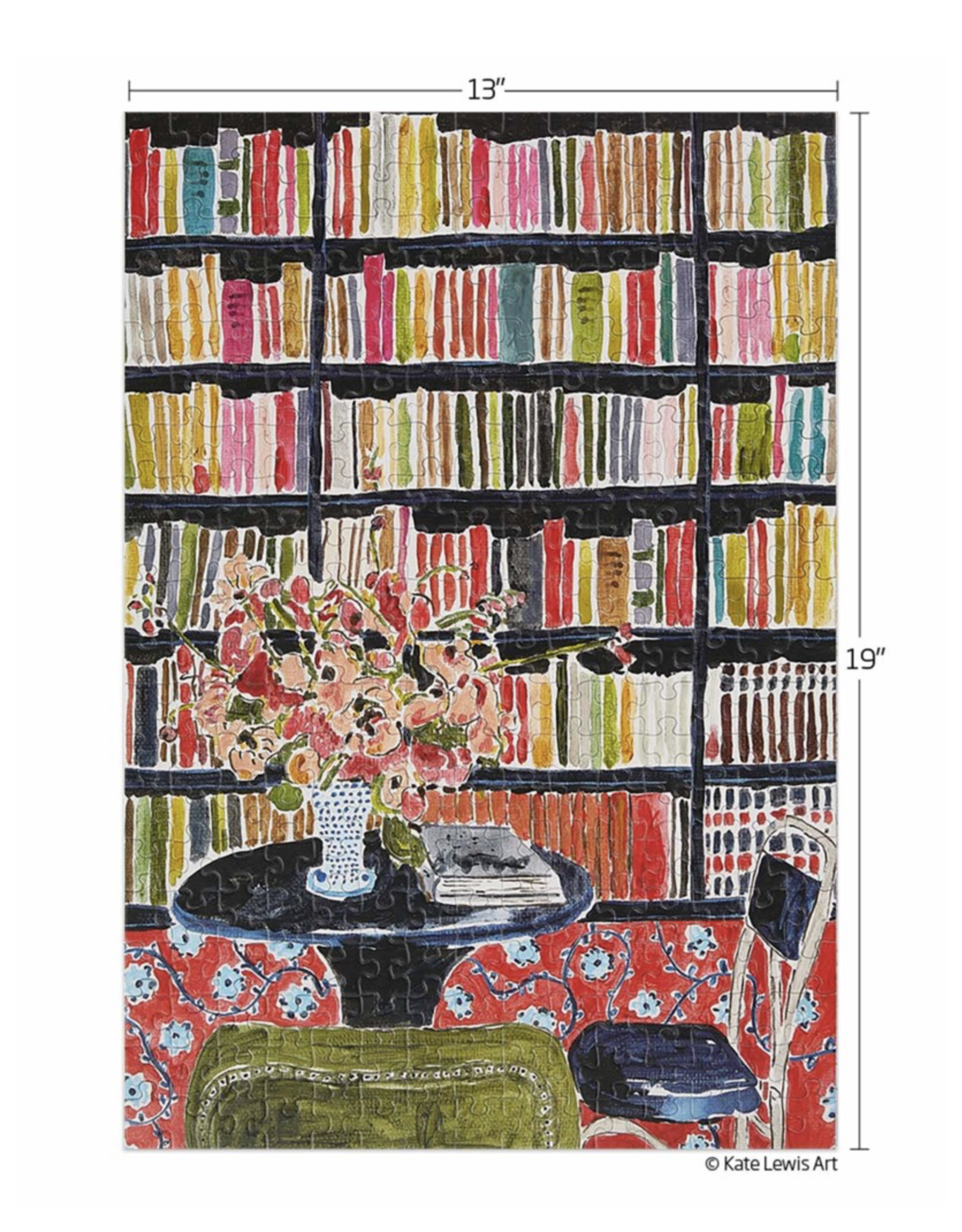 Werkshoppe Books with Flowers Library - 300 Piece Puzzle