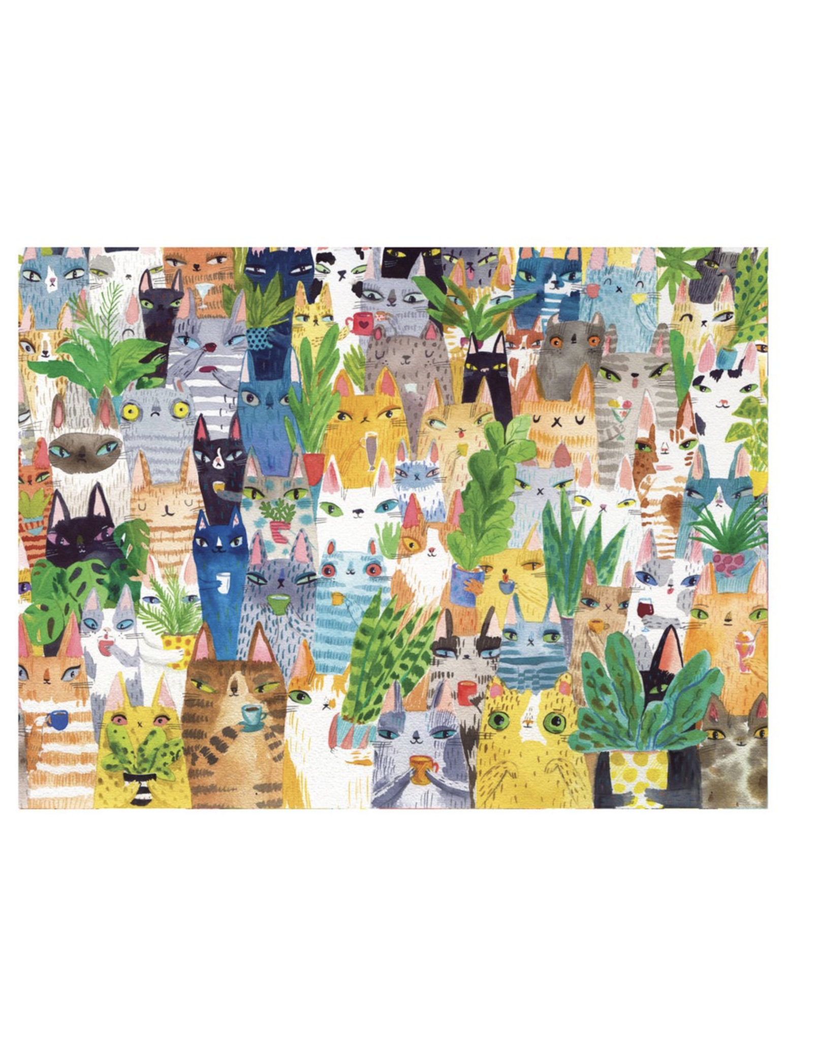 Werkshoppe Cat Plant Exchange - 500 Piece Puzzle
