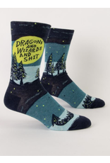BQ Mens Sassy Socks - Dragons & Wizards