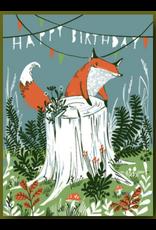 Birthday - Fox on a Stump