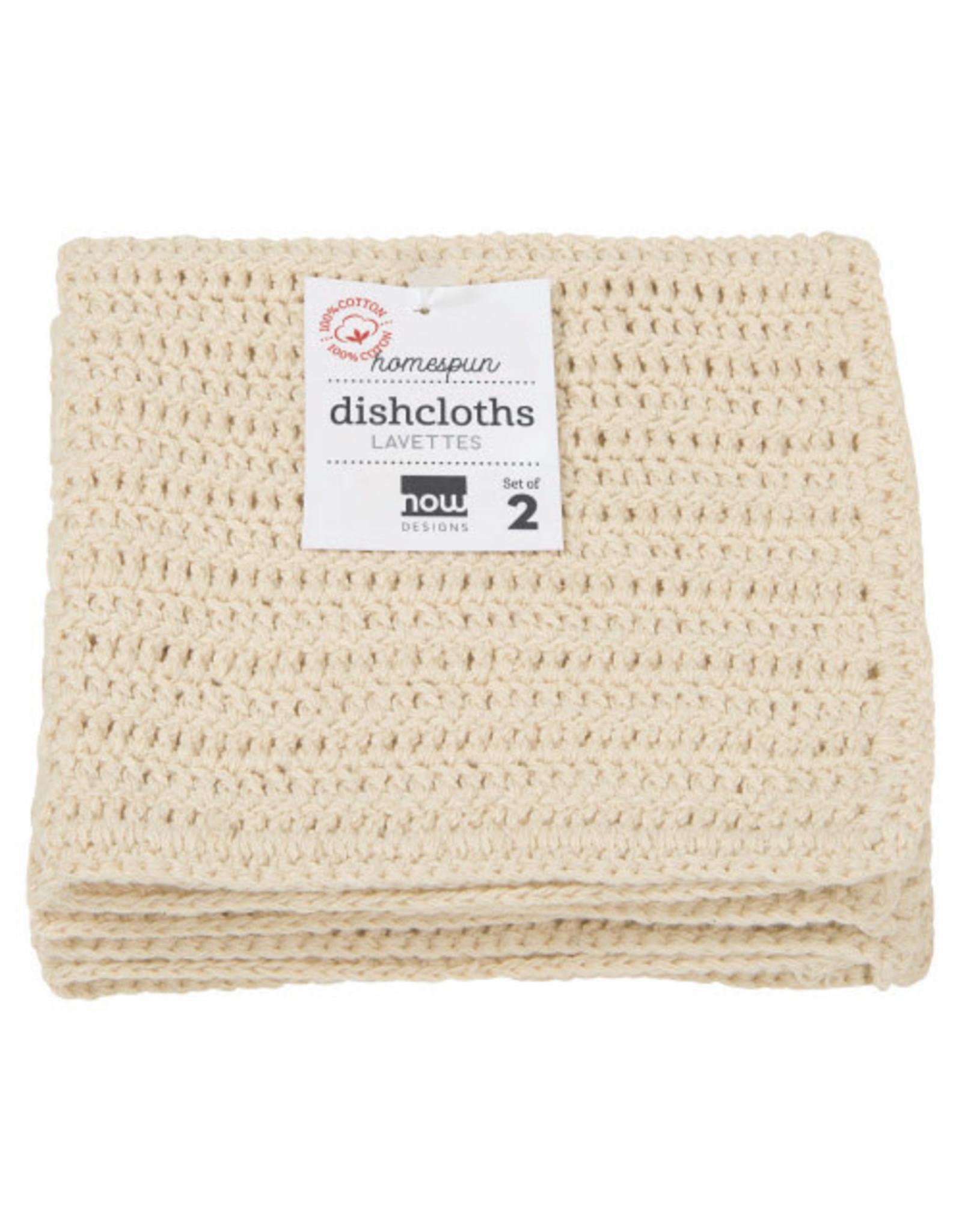 Homespun  Dishcloth  Set of 2  - Natural