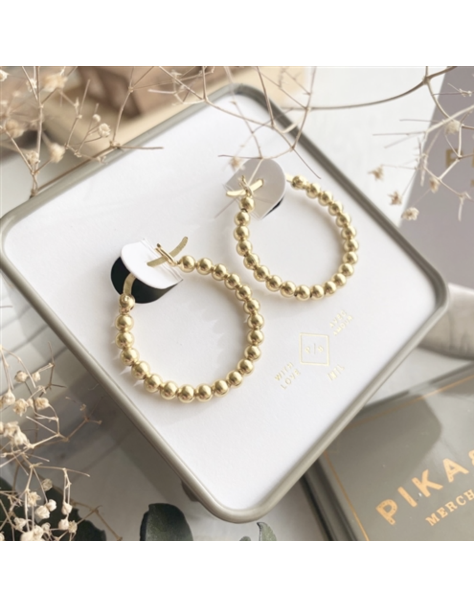 Nala Beaded Hoop Earrings