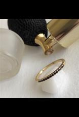 Vipera Black Rhinestone Pave Ring - Gold Vermeil