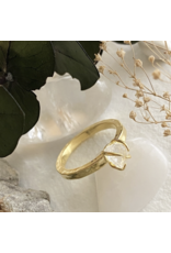 Pika & Bear Vanessa - Raw, Clear Crystal with Gold Vermeil Ring