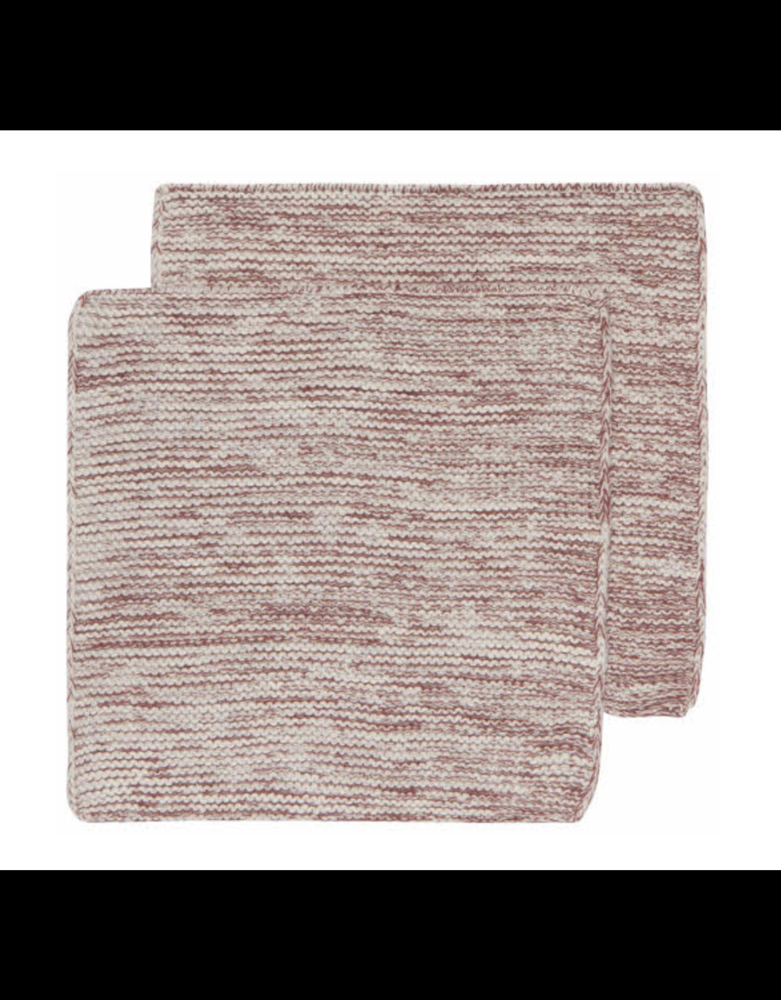 Knit Heirloom Dishcloths Set/2 - Wine
